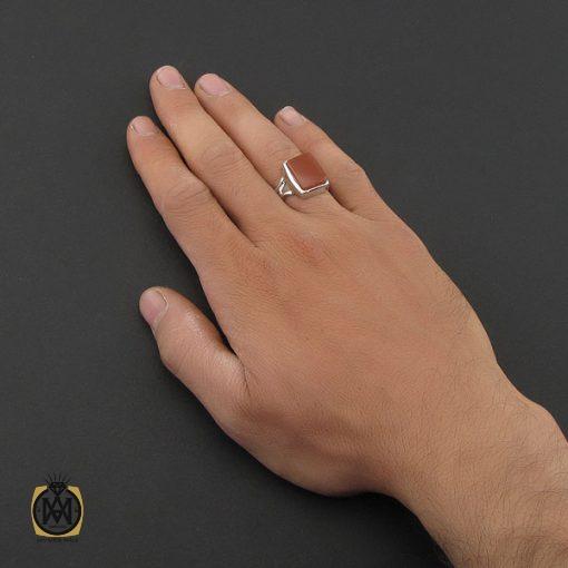 انگشتر عقیق یمن با حکاکی شرف الشمس دست ساز مردانه - کد 8927 - 5 131 510x510