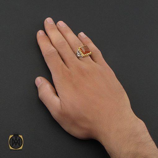 انگشتر عقیق یمن دست ساز مردانه - کد 8928 - 5 132 510x510