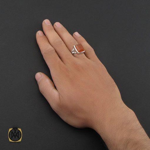 انگشتر عقیق یمن دست ساز مردانه - کد 8929 - 5 133 510x510