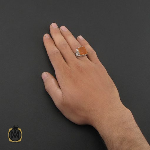 انگشتر عقیق یمن با حکاکی یا رب العالمین دست ساز مردانه - کد 8930 - 5 134 510x510