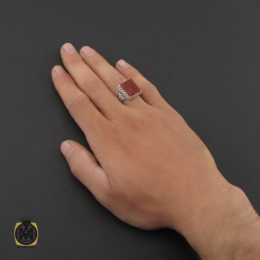 انگشتر عقیق یمن با حکاکی یا سیدالسادات دست ساز مردانه - کد 8931 - 5 135 510x510