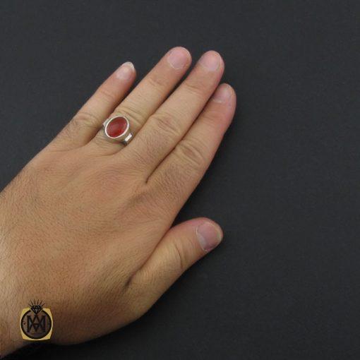 انگشتر عقیق یمن خوش رنگ مردانه دست ساز - کد 8933 - 5 137 510x510