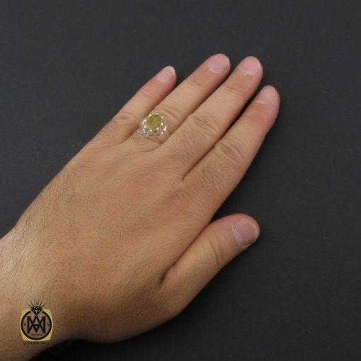 انگشتر یاقوت زرد مردانه دست ساز - کد 8943 - 5 155 510x510