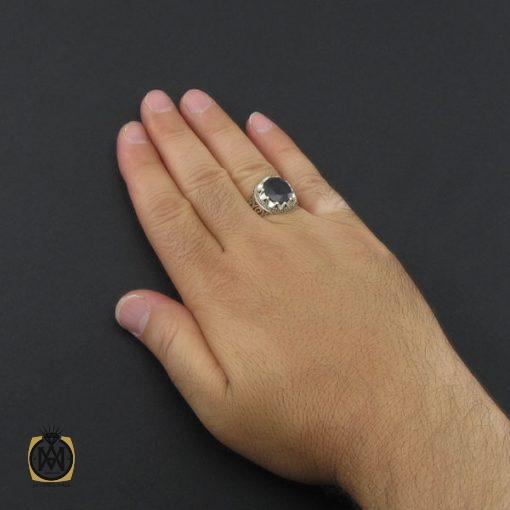 انگشتر یاقوت کبود مردانه دست ساز - کد 8944 - 5 156 510x510