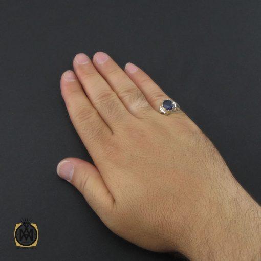 انگشتر یاقوت کبود مردانه دست ساز - کد 8946 - 5 158 510x510