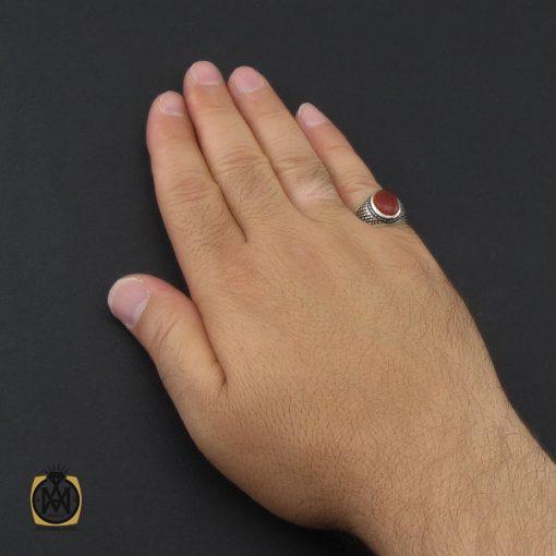 انگشتر عقیق یمن مردانه دست ساز - کد 8971 - 5 184 510x510