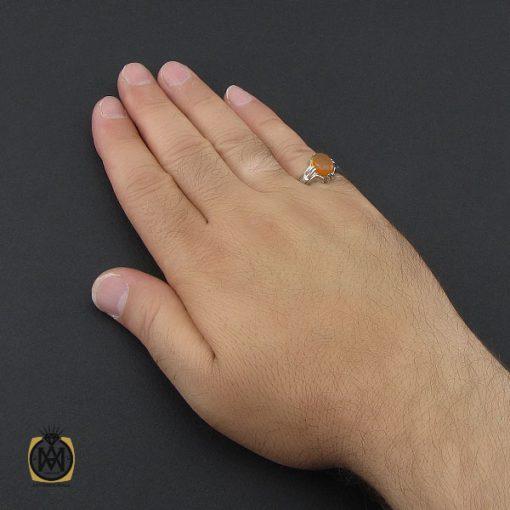 انگشتر عقیق یمن شرف الشمس مردانه دست ساز - کد 8976 - 5 189 510x510