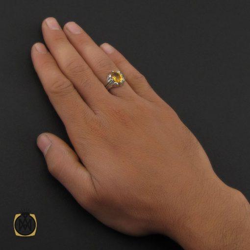 انگشتر سیترین مردانه دست ساز – کد ۸۸۱۷