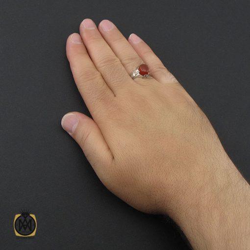 انگشتر عقیق یمن خوش رنگ مردانه دست ساز - کد 8978 - 5 191 510x510