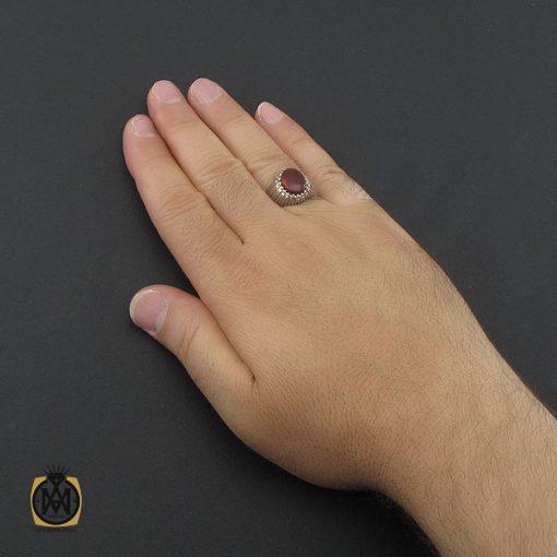 انگشتر عقیق یمن خوش رنگ مردانه دست ساز - کد 8979 - 5 192 510x510
