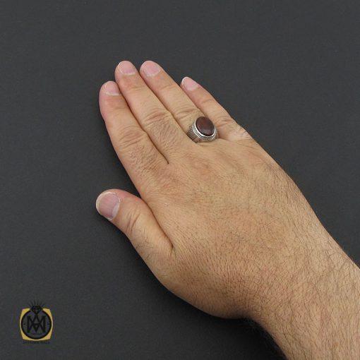 انگشتر عقیق یمن  حرزدار مردانه دست ساز - کد 8981 - 5 194 510x510
