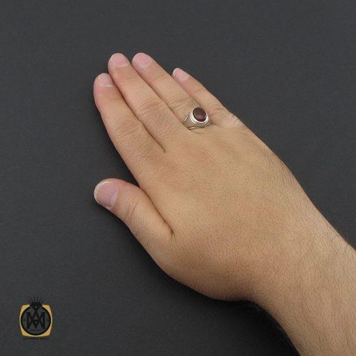 انگشتر عقیق یمن حرزدار مردانه دست ساز - کد 8982 - 5 195 510x510
