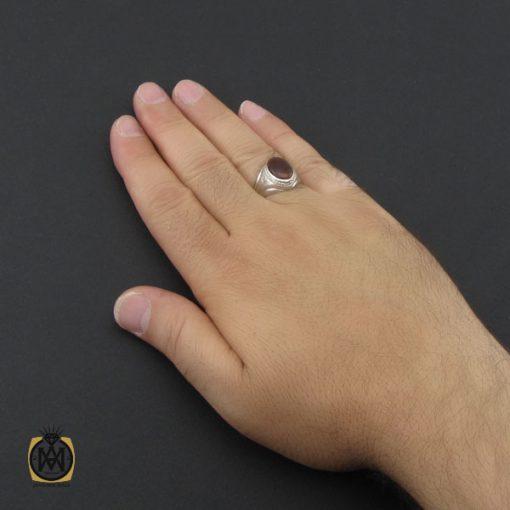 انگشتر عقیق یمن حرزدار مردانه دست ساز - کد 8983