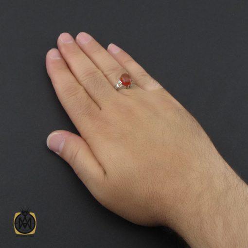 انگشتر عقیق یمن خوش رنگ مردانه دست ساز - کد 8985 - 5 198 510x510