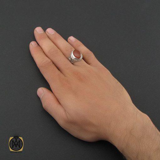 انگشتر عقیق یمن مردانه رکاب دست ساز - کد 8989 - 5 202 510x510