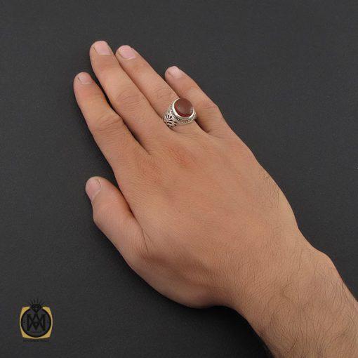 انگشتر عقیق یمن مردانه رکاب دست ساز – کد ۸۹۹۱