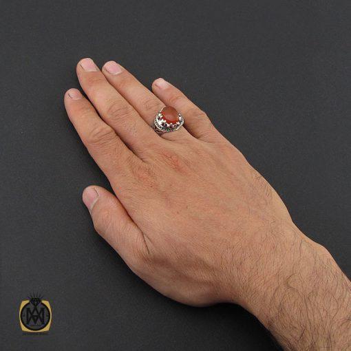 انگشتر عقیق یمن مردانه رکاب دست ساز - کد 8993 - 5 206 510x510