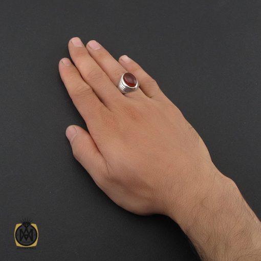 انگشتر عقیق یمن مردانه رکاب دست ساز - کد 8994 - 5 207 510x510