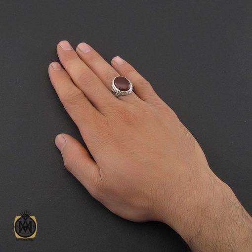 انگشتر عقیق یمن مردانه رکاب دست ساز - کد 8997 - 5 210 510x510