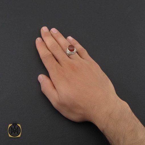 انگشتر عقیق یمن برجسته مردانه رکاب دست ساز - کد 8998 - 5 211 510x510