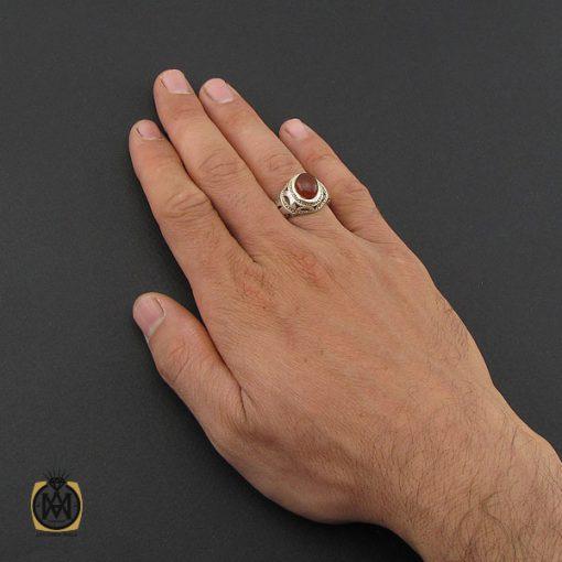 انگشتر عقیق یمن مردانه رکاب دست ساز - کد 10023 - 5 219 510x510