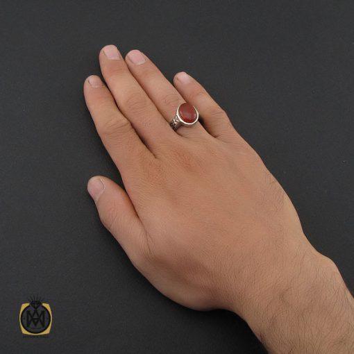 انگشتر عقیق یمن مردانه خوش رنگ رکاب دست ساز - کد 10028 - 5 224 510x510