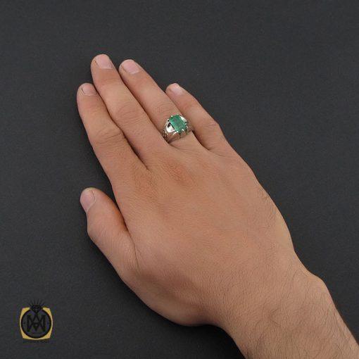 انگشتر زمرد زامبیا مردانه مرغوب و خوش رنگ - کد 10030 - 5 227 510x510