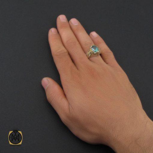 انگشتر توپاز سبز مردانه هنر دست استاد باقرزاده - کد 10042 - 5 239 510x510