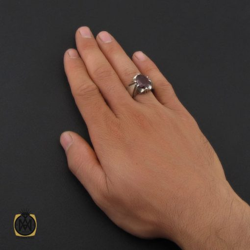 انگشتر یاقوت سرخ خوش رنگ مردانه - کد 10046 - 5 243 510x510