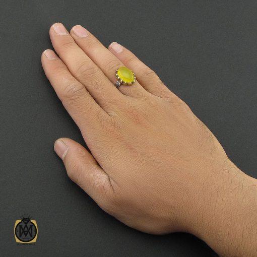 انگشتر عقیق زرد با حکاکی شرف الشمس مردانه – کد 8830 - 5 32 510x510
