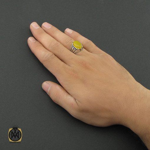 انگشتر عقیق زرد با حکاکی شرف الشمس مردانه – کد 8831 - 5 33 510x510