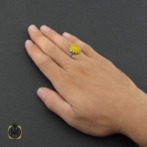 انگشتر عقیق زرد با حکاکی شرف الشمس مردانه – کد 8833 - 5 35 510x510