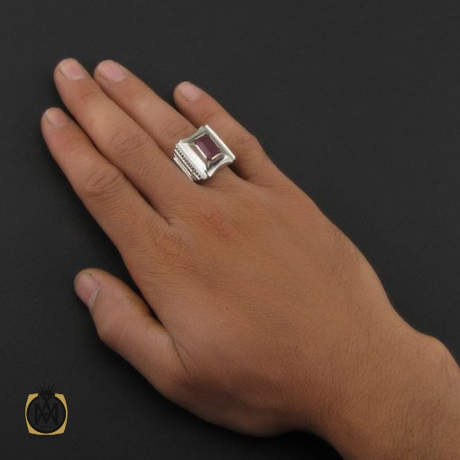 انگشتر یاقوت سرخ فاخر مردانه هنر دست استاد شرفیان – کد 8803 - 5 5 510x510