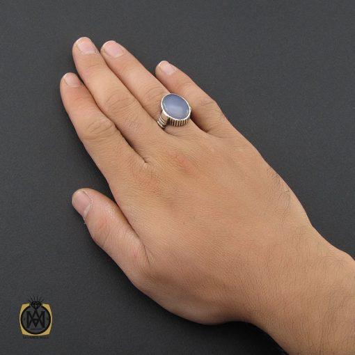 انگشتر عقیق یمن کبود مردانه - کد 8851 - 5 53 510x510