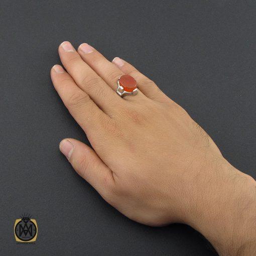 انگشتر عقیق یمن با حکاکی یا حسین مظلوم مردانه - کد 8855 - 5 57 510x510