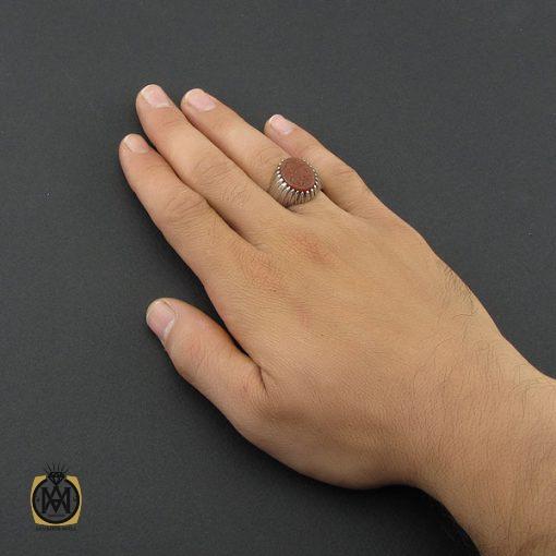 انگشتر عقیق یمن با حکاکی یا قادر المتعال مردانه - کد 8856 - 5 58 510x510