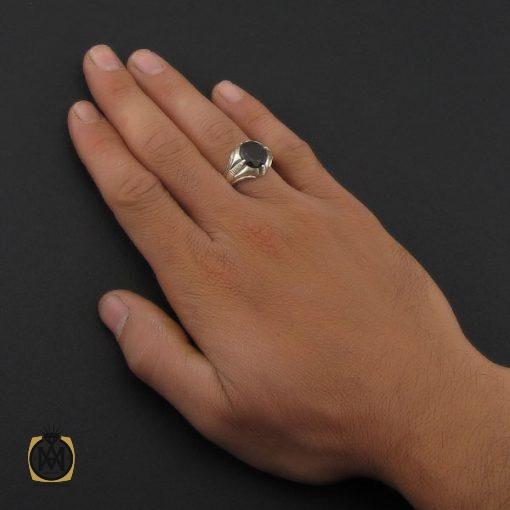 انگشتر یاقوت گارنت مردانه هنر دست استاد شرفیان – کد 8804 - 5 6 510x510