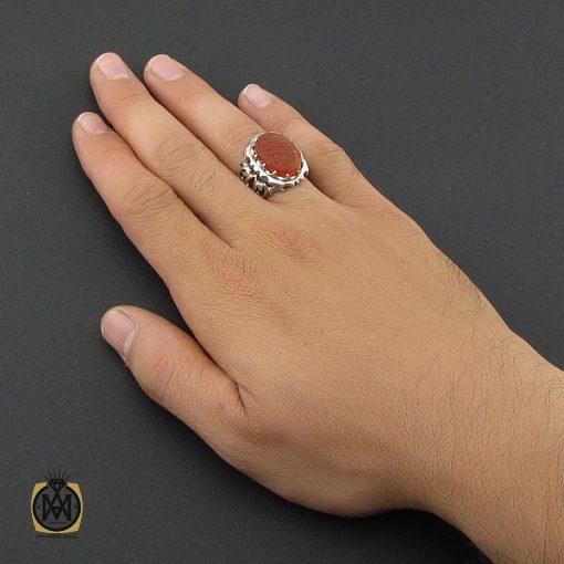 انگشتر عقیق یمن با حکاکی یا ثارالله وابن ثاره مردانه - کد 8860 - 5 62 510x510