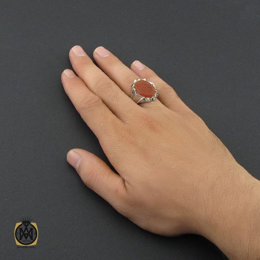 انگشتر عقیق یمن با حکاکی الله و پنج تن مردانه هنر دست استاد شرفیان - کد 8862 - 5 64 510x510