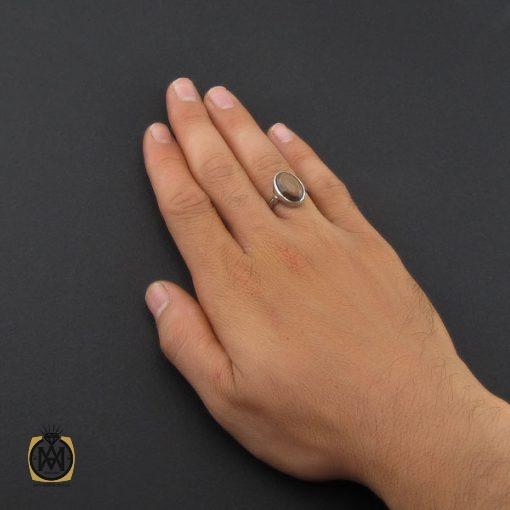 انگشتر عقیق باباقوری یمن مردانه - کد 8874