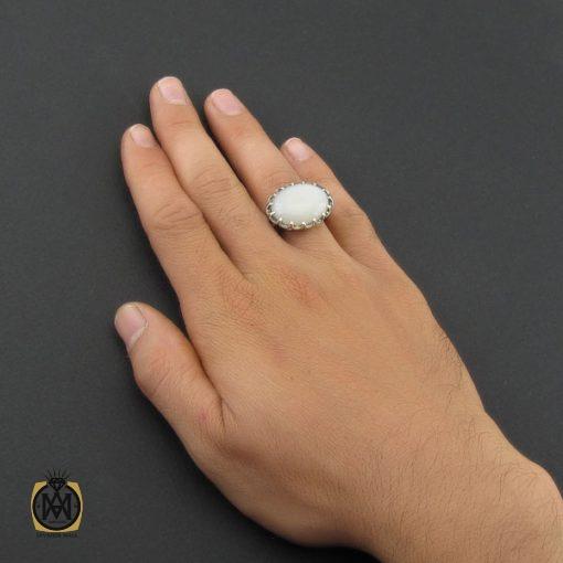 انگشتر مون استون مردانه اصل و معدنی – کد ۸۸۸۳