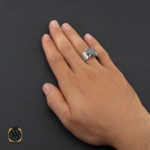 انگشتر اپال خوش رنگ مردانه هنر دست استاد شرفیان - کد 8890 - 5 93 510x510