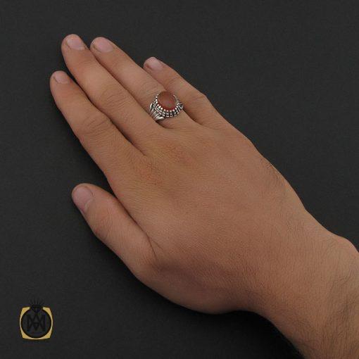 انگشتر عقیق یمن با حکاکی شرف الشمس مردانه - کد 8892 - 5 94 510x510