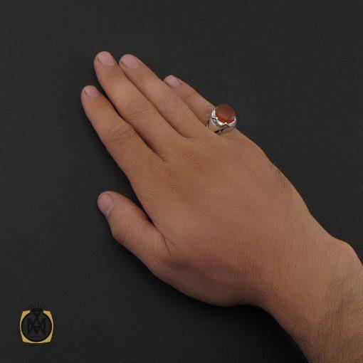 انگشتر عقیق یمن با حکاکی شرف الشمس مردانه - کد 8893 - 5 95 510x510