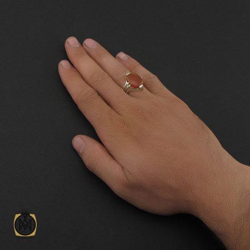 انگشتر عقیق یمن با حکاکی شرف الشمس مردانه - کد 8895 - 5 97 510x510