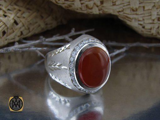 انگشتر عقیق یمن مردانه هنر دست استاد یزدانی- کد 10135 - 00 101 510x383