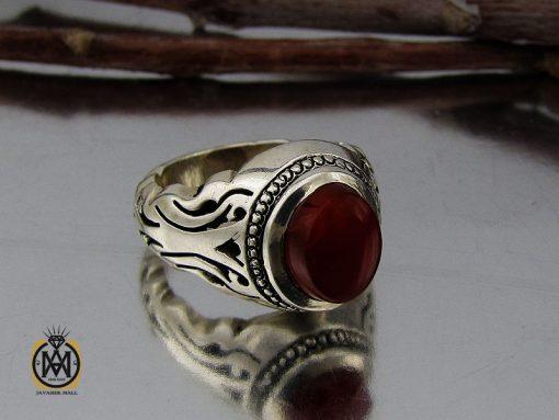 انگشتر عقیق یمن خوش رنگ مردانه دست ساز - کد 10143 - 00 109 510x383