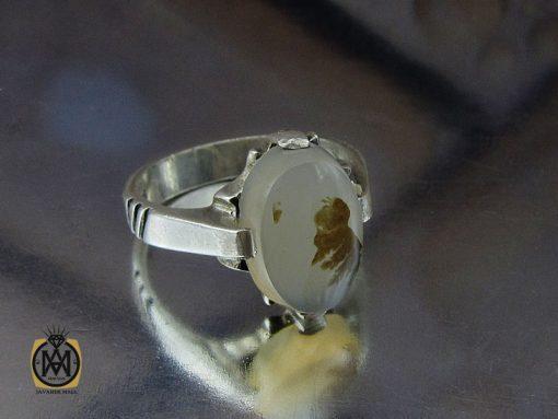 انگشتر عقیق شجر مردانه خوش نقش - کد 10101 - 00 38 510x383