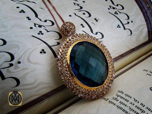 مدال توپاز لندن و الماس طرح لعیا زنانه - کد 3185