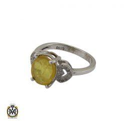 انگشتر یاقوت زرد طرح آیدا زنانه - کد 2137 - 1 198 247x247